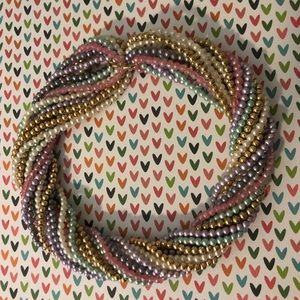 Vintage 80s twister beads and clip